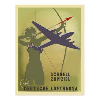 Lufthansa 1937 postkarte