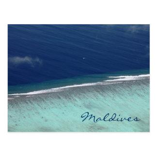 LuftKorallenriff malediven Postkarte