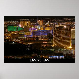 LuftLas Vegas-Streifen nachts - große Höhe Poster