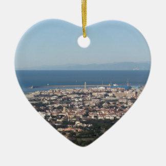 Luftpanorama von Livorno-Stadt Toskana Italien Keramik Ornament