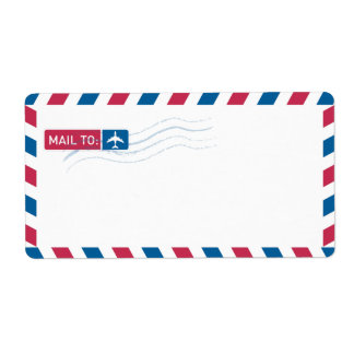 Luftpost-Adresse, die | POST ZU verschickt: Großer Adressaufkleber