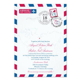 Luftpost-Deutschland-Hochzeit 12,7 X 17,8 Cm Einladungskarte
