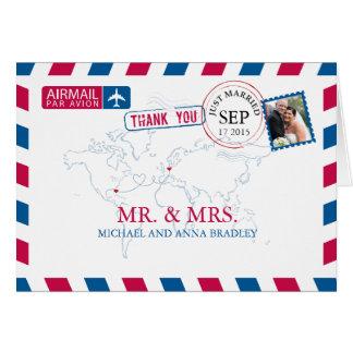 Luftpost-Hochzeit FLORIDAS USA u. DEUTSCHLANDS Karte