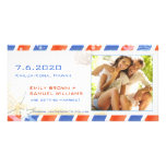 Luftpost-Sommer-Strand-Save the Date Paar-Foto