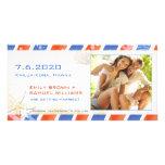 Luftpost-Sommer-Strand-Save the Date Paar-Foto Photokarte