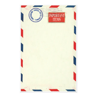 Luftpostbriefpapier Individuelles Druckpapier