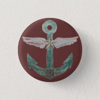 Luftschiff-Anker Runder Button 3,2 Cm