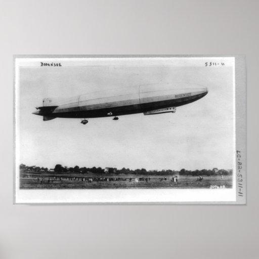 Luftschiff-Zeppelin Bodensee Berlin Deutschland Posterdruck