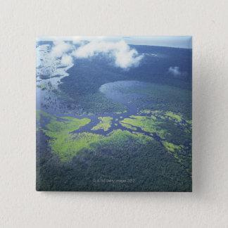 Luftschuß von Amazonas-Wald Quadratischer Button 5,1 Cm