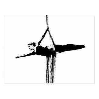 Luftseide-Tänzer Postkarte