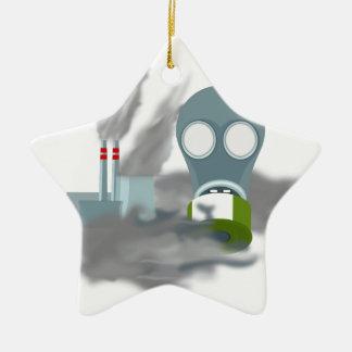Luftverschmutzung Keramik Ornament