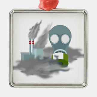 Luftverschmutzung Silbernes Ornament