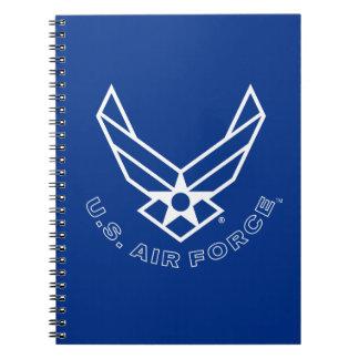 Luftwaffen-Logo - Blau Spiral Notizblock