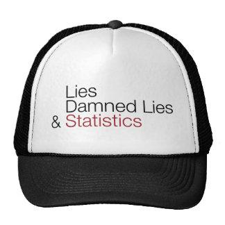 Lügen, verdammte Lügen u. Statistiken Baseballcap