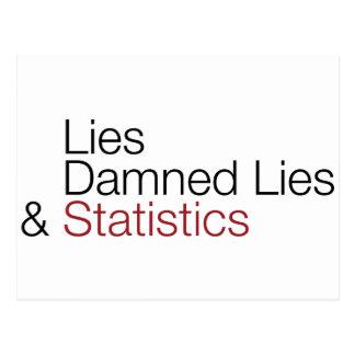 Lügen, verdammte Lügen u. Statistiken Postkarte