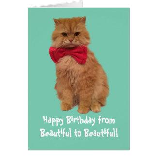 Luigi die Löwe-Katzen-Geburtstags-Karte Grußkarte
