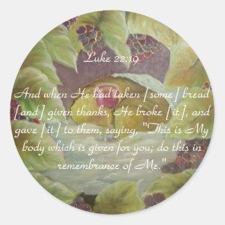 Luke-22:19bibel-Vers Runder Aufkleber