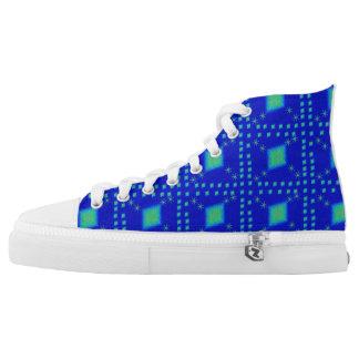 Lulu-Blau Hoch-geschnittene Sneaker