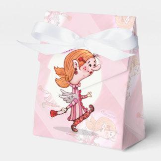 Lulu-ENGELS-CARTOON Zelt mit Geschenkschachtel