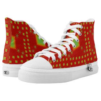 Lulu-Rot Hoch-geschnittene Sneaker