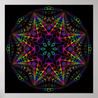 Lumineszenz-Fraktal Poster