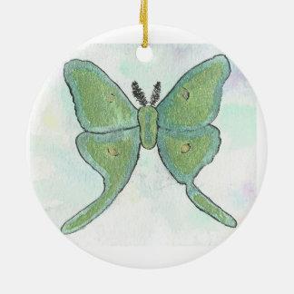 Luna-Motten-Kreis-Verzierung Rundes Keramik Ornament