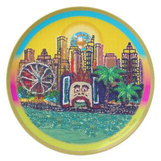 Luna Park Sydney Australien durch Paillette träumt Melaminteller