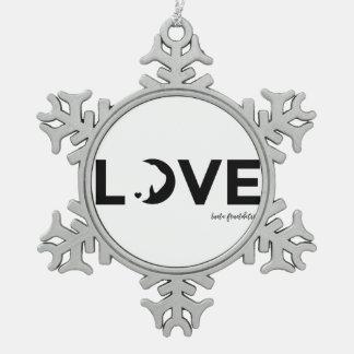 Luna-Schneeflocke Schneeflocken Zinn-Ornament