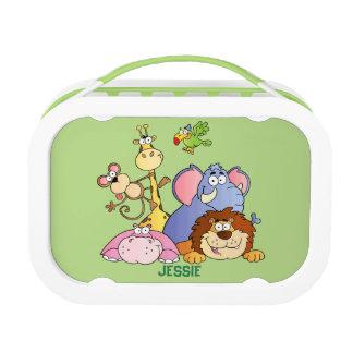 Lunchbox-Grün-Dschungel Tiere Brotdose