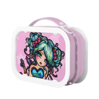 Lunchbox-Kunst Achtzigerjahre des Brotdose