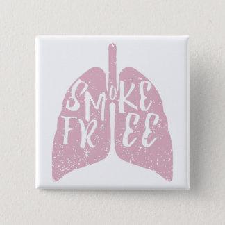 Lungen-Gesundheits-Rauch gibt frei Quadratischer Button 5,1 Cm