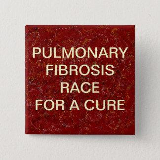 LUNGENfibrosen-KNOPF Quadratischer Button 5,1 Cm