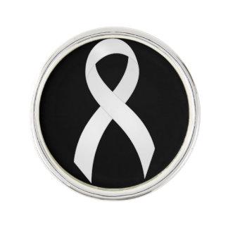 Lungenkrebs-Weiß-Band Anstecknadel