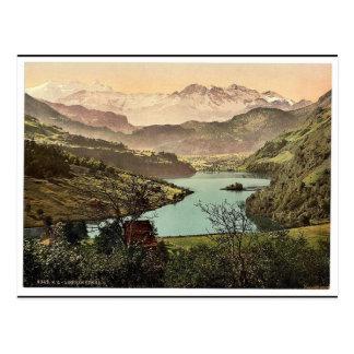 Lungern, allgemeine Ansicht, die Schweiz Vintages Postkarte