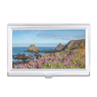 Lupine-Wildblumen bedecken die Hügel Visitenkarten Dose