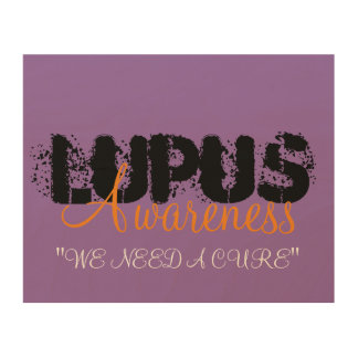 Lupus-Bewusstsein Holzdruck