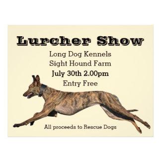 Lurcher-Show-Plakat Flyer
