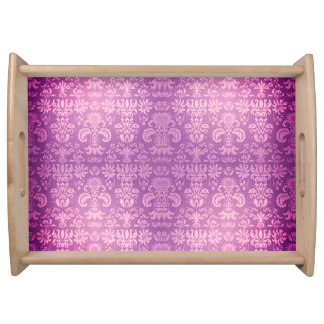 """Lush-Royal-Pink* - Damask-Small_Accessories_Tray """" Serviertablett"""