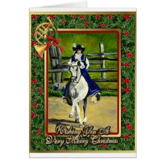 Lusitano Dressage-Pferderaum-Weihnachtskarte Karte