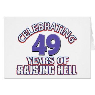 Lustig, 49 Jahre der anhebenden Hölle feiernd Karte