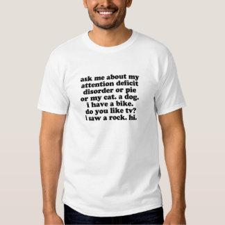 Lustig ADDIEREN Sie ADHD Zitat Hemd