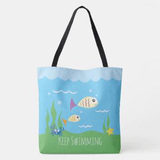 Lustig behalten Sie einfach schwimmende Tasche