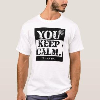 Lustig behalten Sie Ruhe: Ich schaukele an T-Shirt