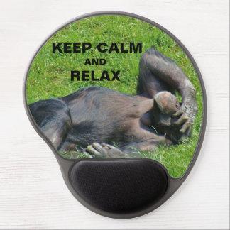 Lustig behalten Sie ruhig und entspannen Sie sich Gel Mousepad