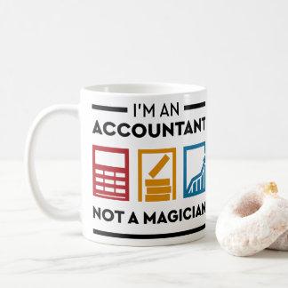 Lustig bin ich ein Buchhalter nicht ein Magier Kaffeetasse