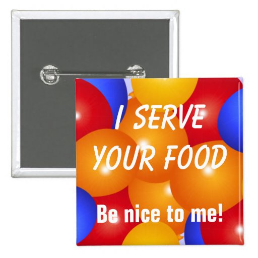 Lustig diene ich Ihren Nahrungknopf Buttons