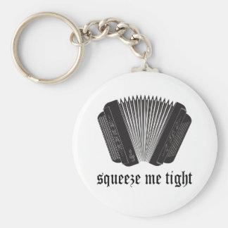 Lustig drücken Sie mich festes Akkordeon-Geschenk Schlüsselanhänger