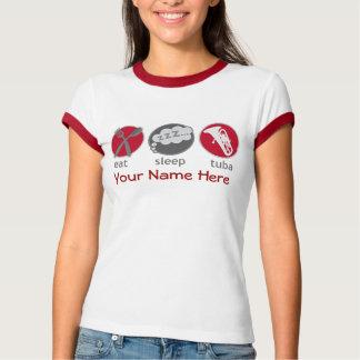 Lustig essen Sie das T-Stück der T-Shirt