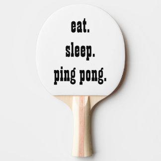 Lustig essen Sie Schlaf-Klingeln pong Tischtennis Schläger