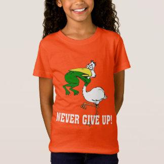 Lustig geben Sie nie Pelikan und Frosch auf T-Shirt
